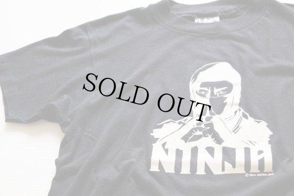 画像1: 80s USA製 NINJA Tシャツ 黒 M★忍者