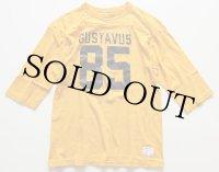 80s USA製 Championチャンピオン GUSTAVUS 85 フットボールTシャツ 黄 L