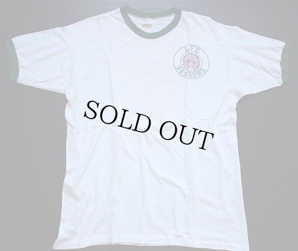 画像2: 70s mayo SPRUCE BSA ボーイスカウト インディアンヘッド 染み込みプリント リンガーTシャツ