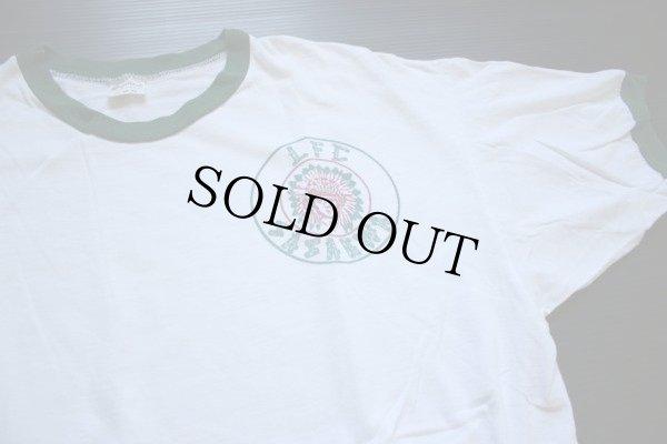 画像1: 70s mayo SPRUCE BSA ボーイスカウト インディアンヘッド 染み込みプリント リンガーTシャツ