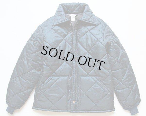 画像1: 80s USA製 BIG SMITHビッグスミス キルティングジャケット 紺