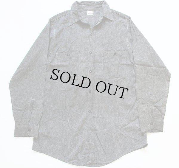 画像1: 40s J.C.PENNEY OX-HIDE ブラックシャンブレーシャツ