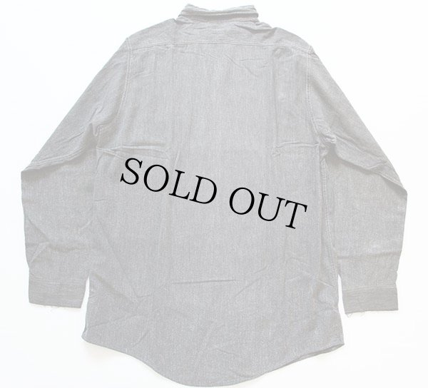 画像2: 40s J.C.PENNEY OX-HIDE ブラックシャンブレーシャツ