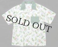 70s GREEN GIANTグリーンジャイアント 総柄 半袖シャツ