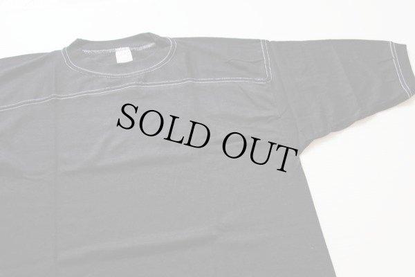 画像1: 80sデッドストック USA製 sportswear 無地 フットボールTシャツ 黒 L
