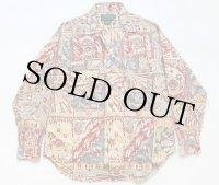80s ポロ カントリー ラルフローレン ネイティブ柄 パネル コットンシャツ 12