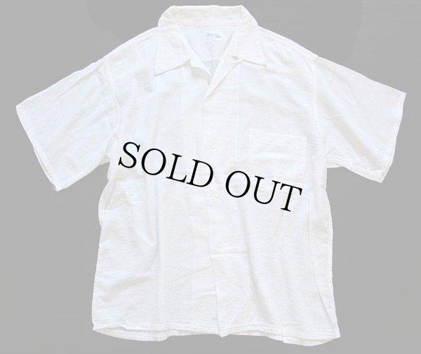 画像1: 50s USA製 Cone PROXIMITY Plisse 半袖 シアサッカーシャツ 白