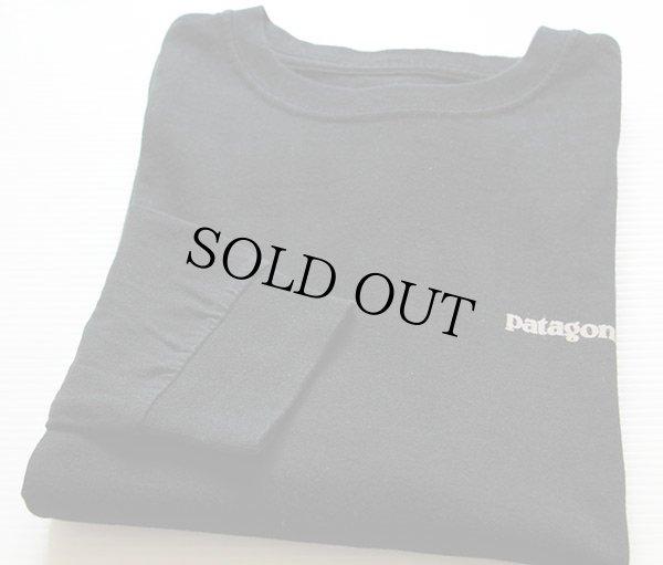 画像1: USA製 patagoniaパタゴニア オーガニックコットン 長袖Tシャツ 黒 M