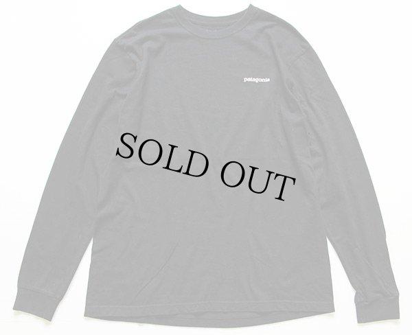 画像2: USA製 patagoniaパタゴニア オーガニックコットン 長袖Tシャツ 黒 M