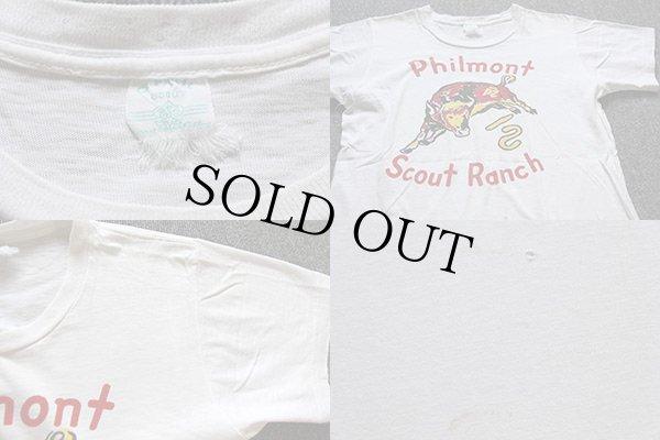 画像4: 60s BSAボーイスカウト Philmont 染み込みプリント Tシャツ 白