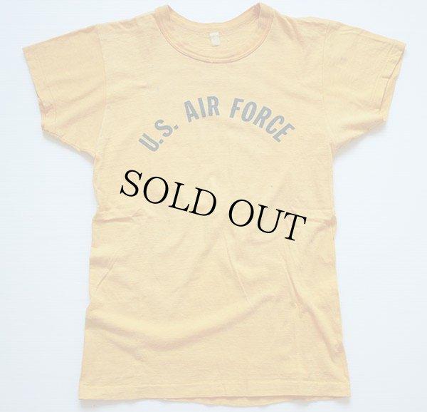 画像2: 60s U.S. AIR FORCE 染み込みプリント Tシャツ 黄