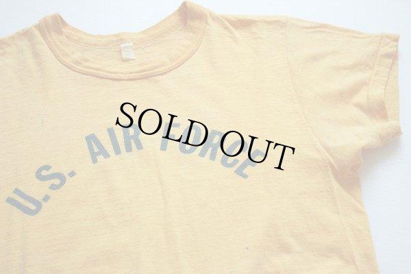 画像1: 60s U.S. AIR FORCE 染み込みプリント Tシャツ 黄