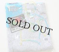 デッドストック★90s USA製 FRUIT OF THE LOOM 無地 ノースリーブ ポケットTシャツ 杢グレー L