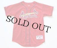 90s USA製 Majestic Cardinalsカージナルス MCGWIRE 25 メッシュ ベースボールシャツ 赤 キッズL
