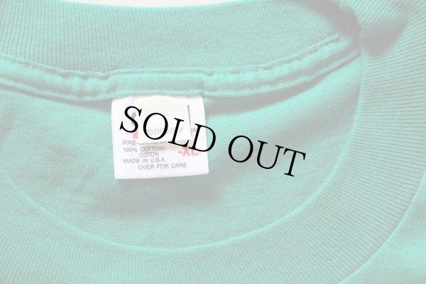 画像3: 90sデッドストック USA製 DISNEYディズニー ドナルドダック 刺繍 ポケットTシャツ 緑 XL