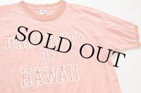 70s ARTEX UNIVERSITY OF HAWAII リンガーTシャツ 霜降りオレンジ L
