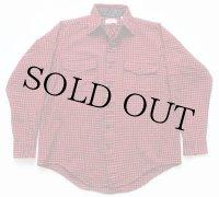 80s USA製 L.L.Bean チェック ウールシャツ 赤×黒 M
