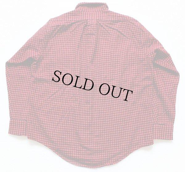 画像2: 80s USA製 L.L.Bean チェック ウールシャツ 赤×黒 M