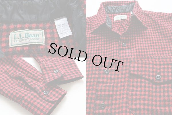 画像3: 80s USA製 L.L.Bean チェック ウールシャツ 赤×黒 M