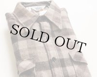 70sデッドストック USA製 Woolrichウールリッチ バッファローチェック ウールシャツ XL
