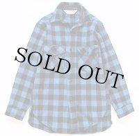 80s L.L.Bean OLDFRIENDS バッファローチェック ウールシャツ 青×黒