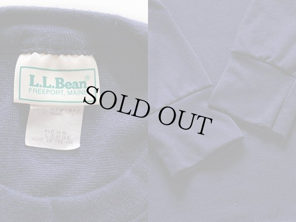画像3: 90s USA製 L.L.Bean アンダーシャツ 紺 L