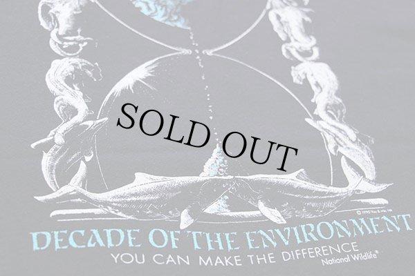 画像4: 90s USA製 Hanesヘインズ DECADE OF THE ENVIRONMENT コットンTシャツ 黒 XL