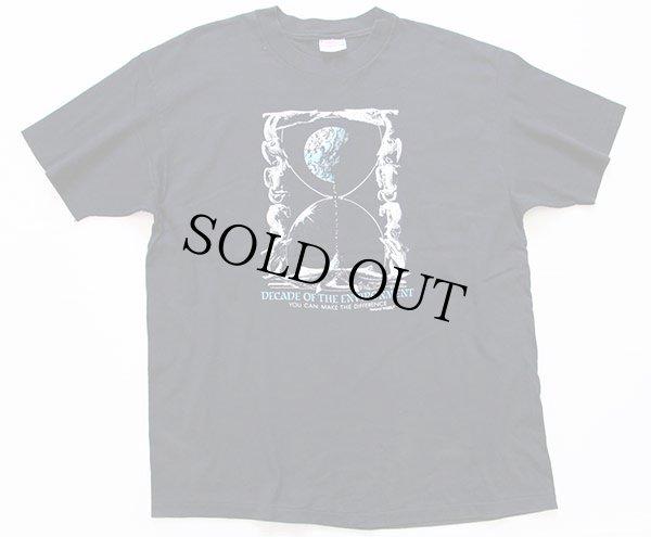 画像2: 90s USA製 Hanesヘインズ DECADE OF THE ENVIRONMENT コットンTシャツ 黒 XL