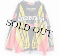 90s FOX RACING HONDA モトクロス レーシングシャツ M★E