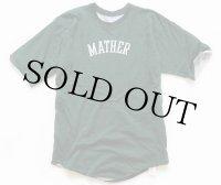 70s USA製 RUSSELLラッセル MATHER コットン リバーシブルTシャツ 緑×グレー M