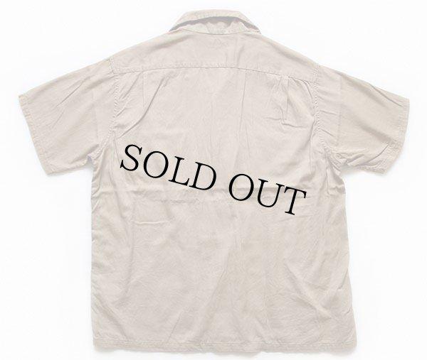 画像2: 50s BIG YANKビッグヤンク 半袖 コットン ワークシャツ カーキ