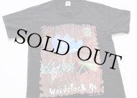 90s USA製 WOODSTOCKウッドストック 94 コットンTシャツ 黒 L