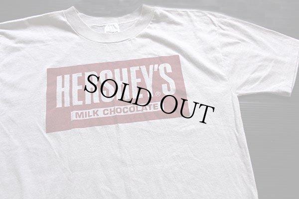 画像1: 80s USA製 HERSHEY'Sハーシーズ ロゴ Tシャツ グレー M