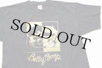 90s USA製 BETTY BOOP ベティ ブープ コットンTシャツ 黒×金 XXXL