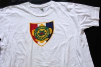 50s BSA ボーイスカウト SCHIFF SCOUT RESERVATION 染み込みプリント コットンTシャツ 白 XL