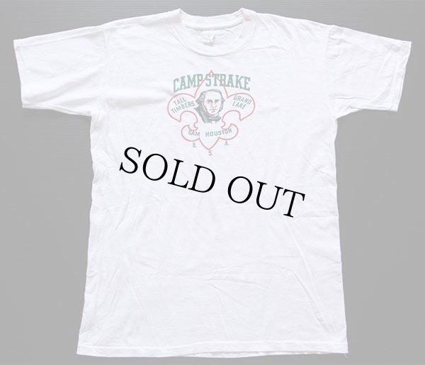 画像2: 60s BSA ボーイスカウト SAM HOUSTON 染み込みプリント コットンTシャツ 白 XL