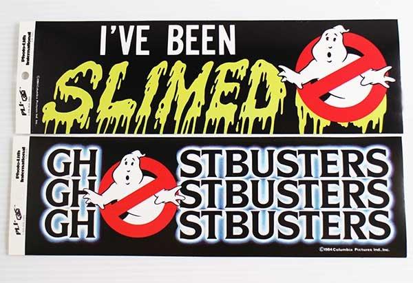 画像1: 80sデッドストック GHOSTBUSTERゴーストバスターズ SLIMEDスライム ステッカー 2枚セット