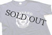 80s USA製 Championチャンピオン HARVARD コットンTシャツ 紺 L