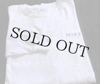 90s NIKEナイキ ロゴ刺繍 コットン 長袖Tシャツ 白 XL