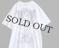 90s USA製 人体 臓器 骨 コットンTシャツ ワンピース 白 XXL
