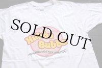 デッドストック★70s USA製 Hubba Bubba 染み込みプリント Tシャツ 白 M★A