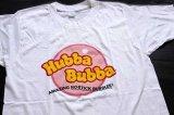 70sデッドストック USA製 Hubba Bubba 染み込みプリント Tシャツ 白 M★B