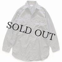 50s BIG YANKビッグヤンク マチ付き コットンツイル ワークシャツ グレー 15