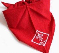 ビンテージ BSA ボーイスカウト ネッカチーフ 赤×白★F
