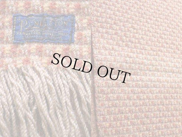 画像3: 50s PENDLETONペンドルトン 織り柄 ウール ブランケット