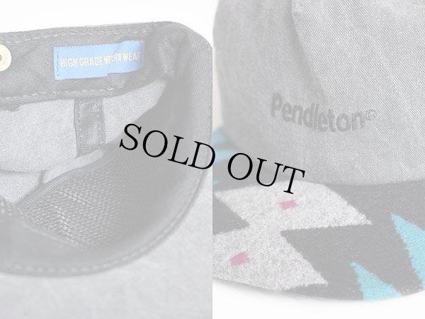 画像3: 90s USA製 PENDLETONペンドルトン ネイティブ柄 コットンキャップ グレー
