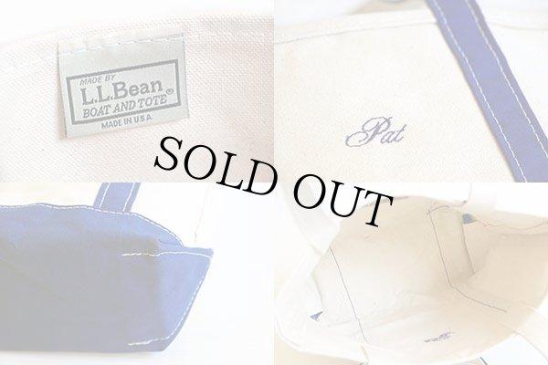 画像3: USA製 L.L.Bean BOAT AND TOTE Pat刺繍 ロングハンドル キャンバス トートバッグ 青 S
