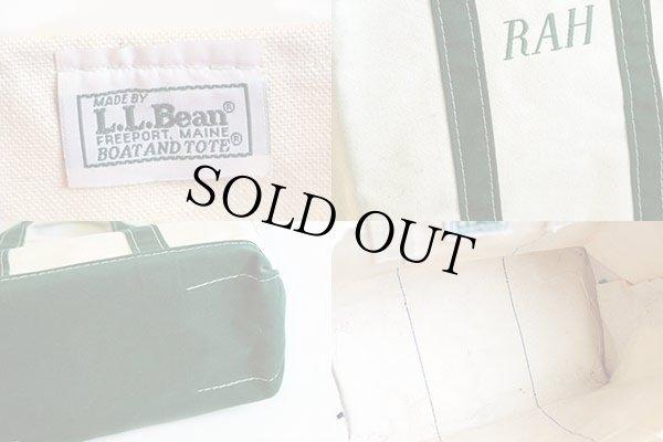 画像3: 90s L.L.Bean BOAT AND TOTE RAH刺繍 キャンバス トートバッグ 緑 M
