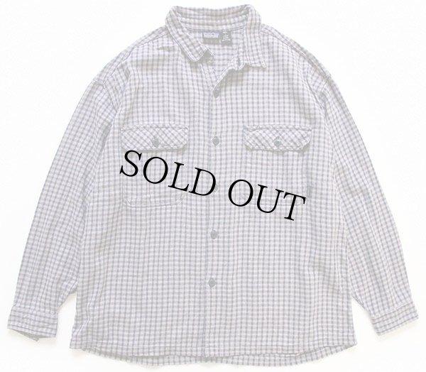 画像1: 90s patagoniaパタゴニア チェック オーガニックコットンシャツ L