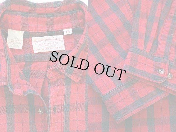 画像3: 90s USA製 FILSONフィルソン チェック ヘービーコットンシャツ 赤×黒 XXL